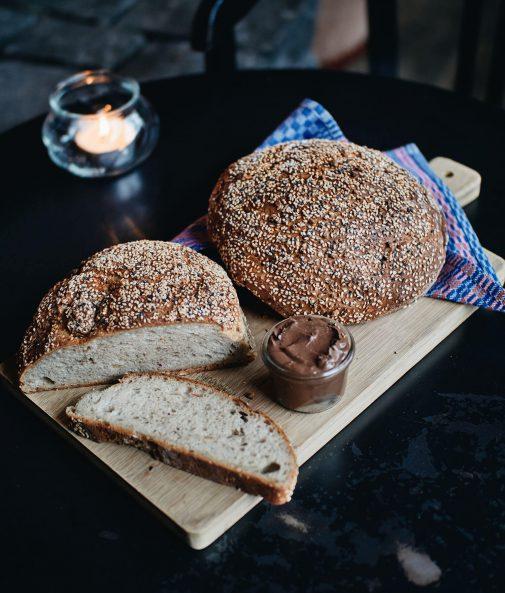 Peanut Butter Brot Erdnussbutter